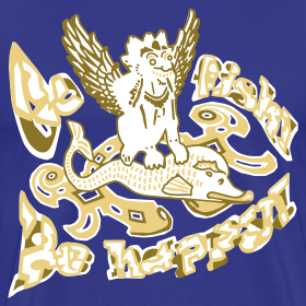 Motiv ~ Go fish! Be happy!, t-shirt