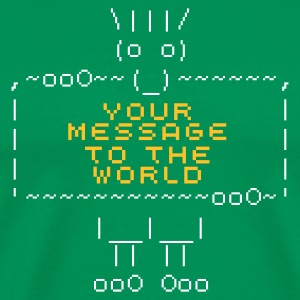 ascii art: troll + your text T-Shirts - Koszulka męska Premium