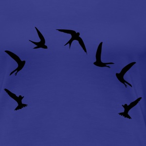 Turkis hurtig / swifts (1c) T-shirts - Dame premium T-shirt