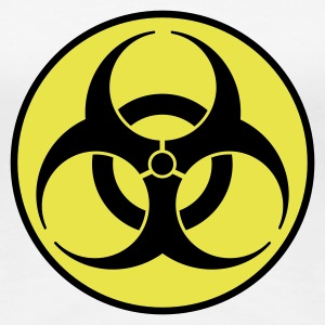 Weiß biohazard 2 color DE T-Shirts - Frauen Premium T-Shirt