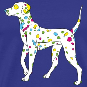 Divablå colorfully dog - dalmatiner T-shirts - Herre premium T-shirt