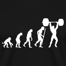 Black Evolution of pumping iron Men's T-Shirts