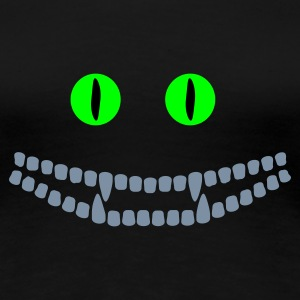 Noir sourire de chat / Cheshire cat (3c) T-shirts - T-shirt Premium Femme
