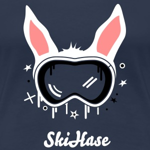 Navy Skihase T-Shirts - Frauen Premium T-Shirt