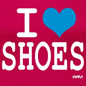 Rosa scuro i love shoes by wam T-shirt - Maglietta Premium da donna