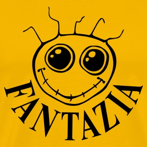 Yellow Fantazia Smiley face Men's T-Shirts - Men's Premium T-Shirt