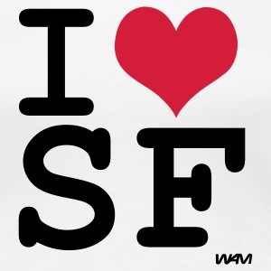 Wit i love san francisco by wam T-shirts - Vrouwen Premium T-shirt