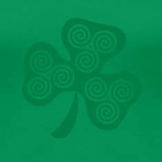 Grass green Celtic triple spirals clover (1c) Women's T-Shirts