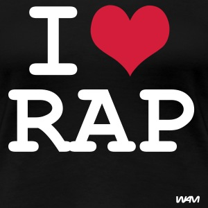 Zwart i love rap by wam T-shirts - Vrouwen Premium T-shirt