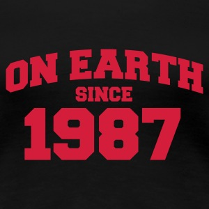 Sort onearth1987 T-shirts - Dame premium T-shirt