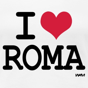 Wit i love roma by wam T-shirts - Vrouwen Premium T-shirt