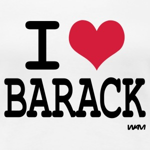 Wit i love barack by wam T-shirts - Vrouwen Premium T-shirt