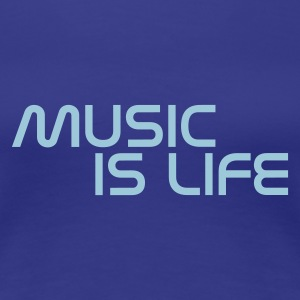 Blue royal music is life without heart IT T-shirt - Maglietta Premium da donna