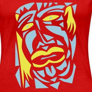 red,face 7 - Women's Premium T-Shirt