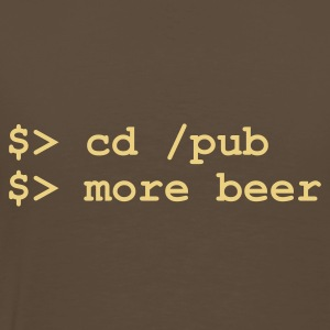 Brown Coder Pub Beer (1c, NEU) Men's T-Shirts - Men's Premium T-Shirt
