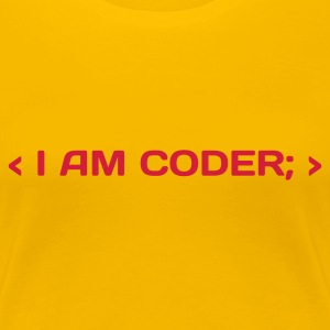 Rose clair I am Coder (1c, NEU) T-shirts - T-shirt Premium Femme