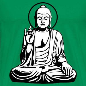 Kelly green Young Buddha No.1_2c T-Shirts - Männer Premium T-Shirt