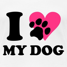 White I love my dog - dogs Women's T-Shirts