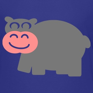 Cyan Hippo Kids' Shirts - Teenage Premium T-Shirt