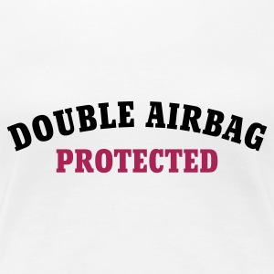 Weiß DOUBLE AIRBAG PROTECTED © T-Shirts - Women's Premium T-Shirt