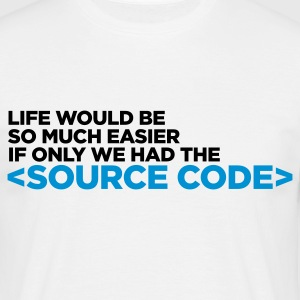 Life Source Code 1 (ENG, 2c) - Herre-T-shirt