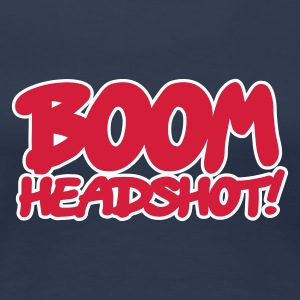 Navy BOOM headshot 2c UK T-shirts - Vrouwen Premium T-shirt