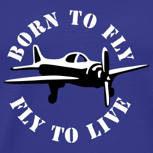 born_to_fly_2c T-shirts - Premium-T-shirt herr
