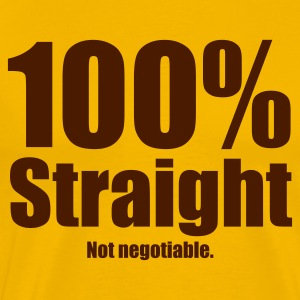 100% Straight - Men's Premium T-Shirt