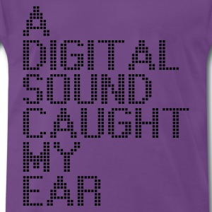 Indigo a_digital_sound_caught_my_ear T-shirts - Mannen Premium T-shirt
