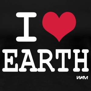Noir i love earth by wam T-shirts - T-shirt Premium Femme