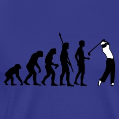 Diva blue evolution_golf_b_2c Men's T-Shirts