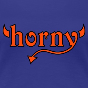 Royal blue horny Women's T-Shirts - Premium T-skjorte for kvinner
