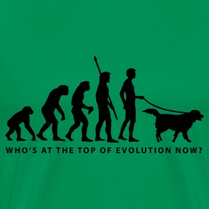 Moosgrün evolution_dog_b T-Shirts - Männer Premium T-Shirt