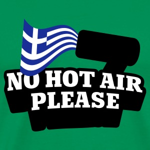 Khaki grün No hot Air please © T-Shirts - Premium-T-shirt herr