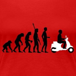 Red evolution_vespa_2c Women's T-Shirts - Women's Premium T-Shirt