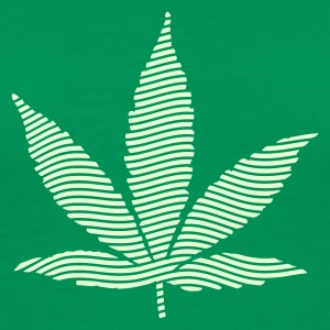 Bottlegreen Psychedelic cannabis marijuana leaf (stripes) Men's T-Shirts - Men's Premium T-Shirt