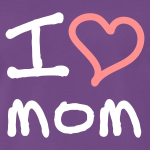 I love mom - Premium T-skjorte for menn