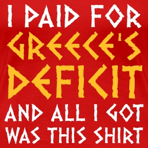 Rojo Greece's Deficit This Shirt (2c) Camisetas - Camiseta premium mujer