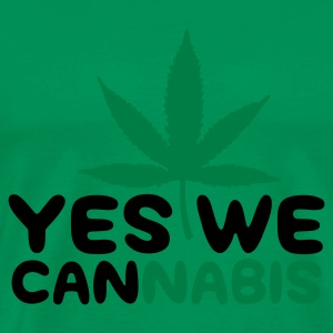 Vert mousse Yes we Cannabis 4 (2c) T-shirts - T-shirt Premium Homme