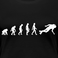 Black Scuba Diving Evolution 1 (1c) Women's T-Shirts
