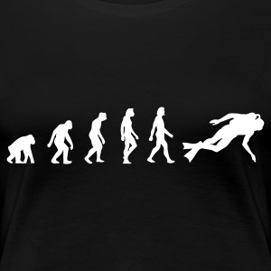 Black Scuba Diving Evolution 1 (1c) Women's T-Shirts - Women's Premium T-Shirt