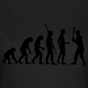 Olive evolution_baseball_c_1c T-Shirts - Frauen T-Shirt