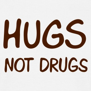 Sand beige hugs not drugs Men's T-Shirts - T-skjorte for menn