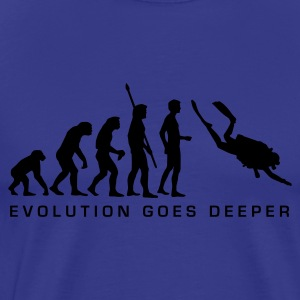 evolution_taucher_b T-shirts - Mannen Premium T-shirt