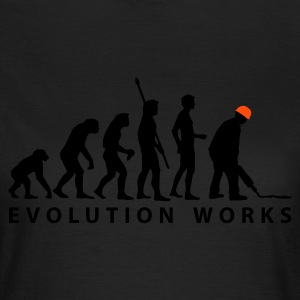 Olive evolution_bauarbeiter_b_2c T-Shirts - Frauen T-Shirt