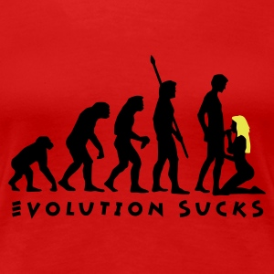 evolution_sucks_b_2c T-shirts - Dame premium T-shirt