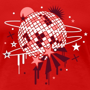 Rouge disco_ball T-shirts - T-shirt Premium Femme