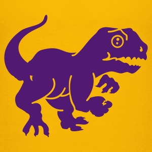 Geel dino (1c) Kinder shirts - Teenager Premium T-shirt