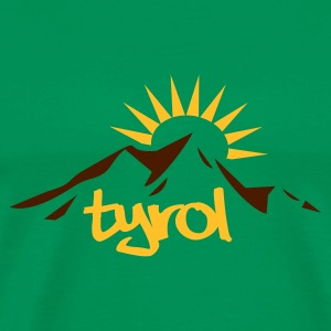 Kelly green Mountain Sun Tyrol T-Shirts - Männer Premium T-Shirt