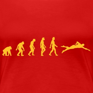 Red Swimming Evolution 1 (1c) Women's T-Shirts - Women's Premium T-Shirt